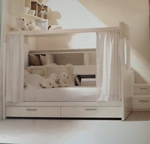 idea per cameretta per ragazzi con letto a castello