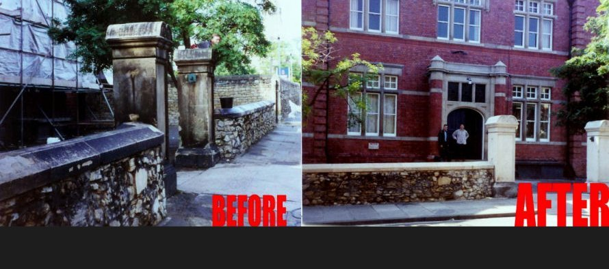 Stone before & after cleaning - South Shields, Newcastle, Leeds - Intertank Services Ltd
