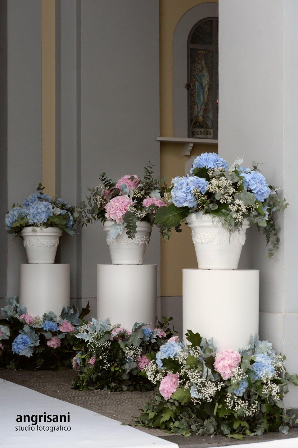 3 vasi di fiori