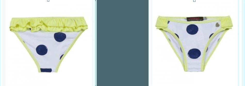 costume un pezzo da bambina con frangie gialle
