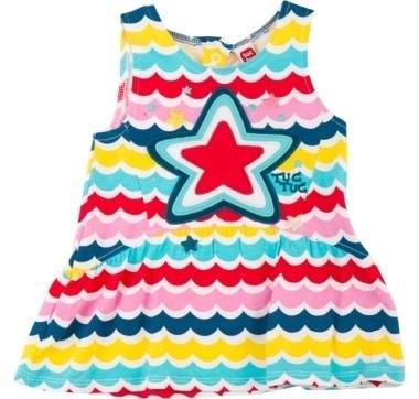 abbigliamento tuc tuc vestito bambina colorato con stella