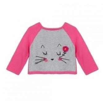 maglie catimini rosa con raffigurazione di un gatto
