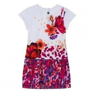 abbigliamento catimini vestito bianco con disegni di fiori
