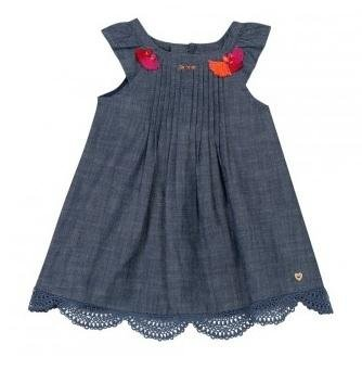 abbigliamento catimini vestito bambina di jeans