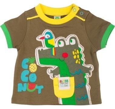 abbigliamento tuc tuc maglia verde con coccodrillo e uccello