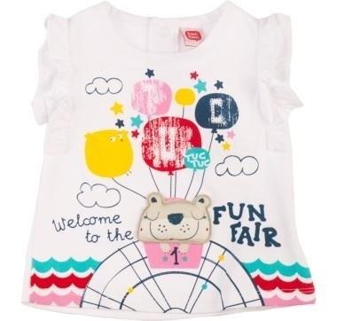 abbigliamento tuc tuc maglia con orsetto e scritta welcome to the fun fair