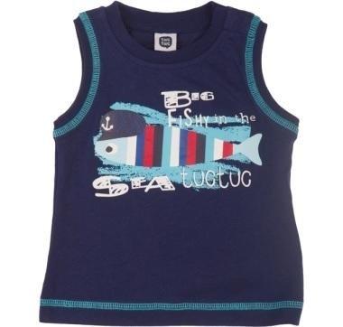 abbigliamento tuc tuc canottiera blu