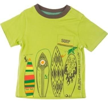 abbigliamento tuc tuc maglia verde con surf