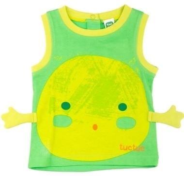 abbigliamento tuc tuc canottiera verde e gialla
