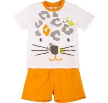abbigliamento tuc tuc completo bianco e arancione