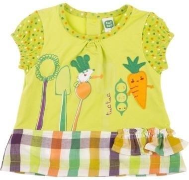 abbigliamento tuc tuc completo con disegni di carote