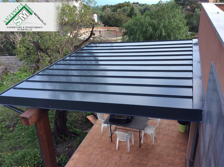 copertura tetto in lamiera