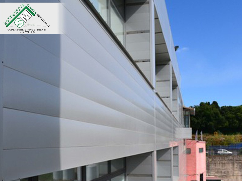 facciata ventilata, in alluminio preverniciato
