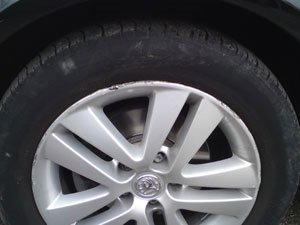 Astra Wheel Before Repair