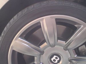Bentley Wheel After Repair