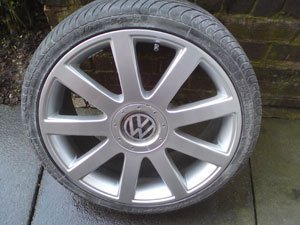 VW Wheel After Repair