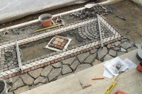 Lavori pavimentazione a pietra