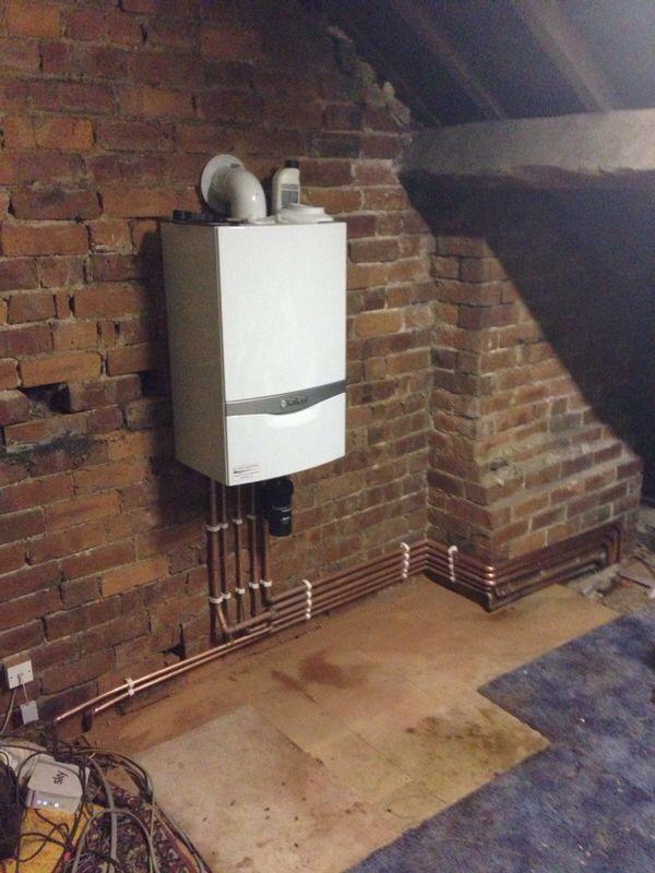 boiler in loft