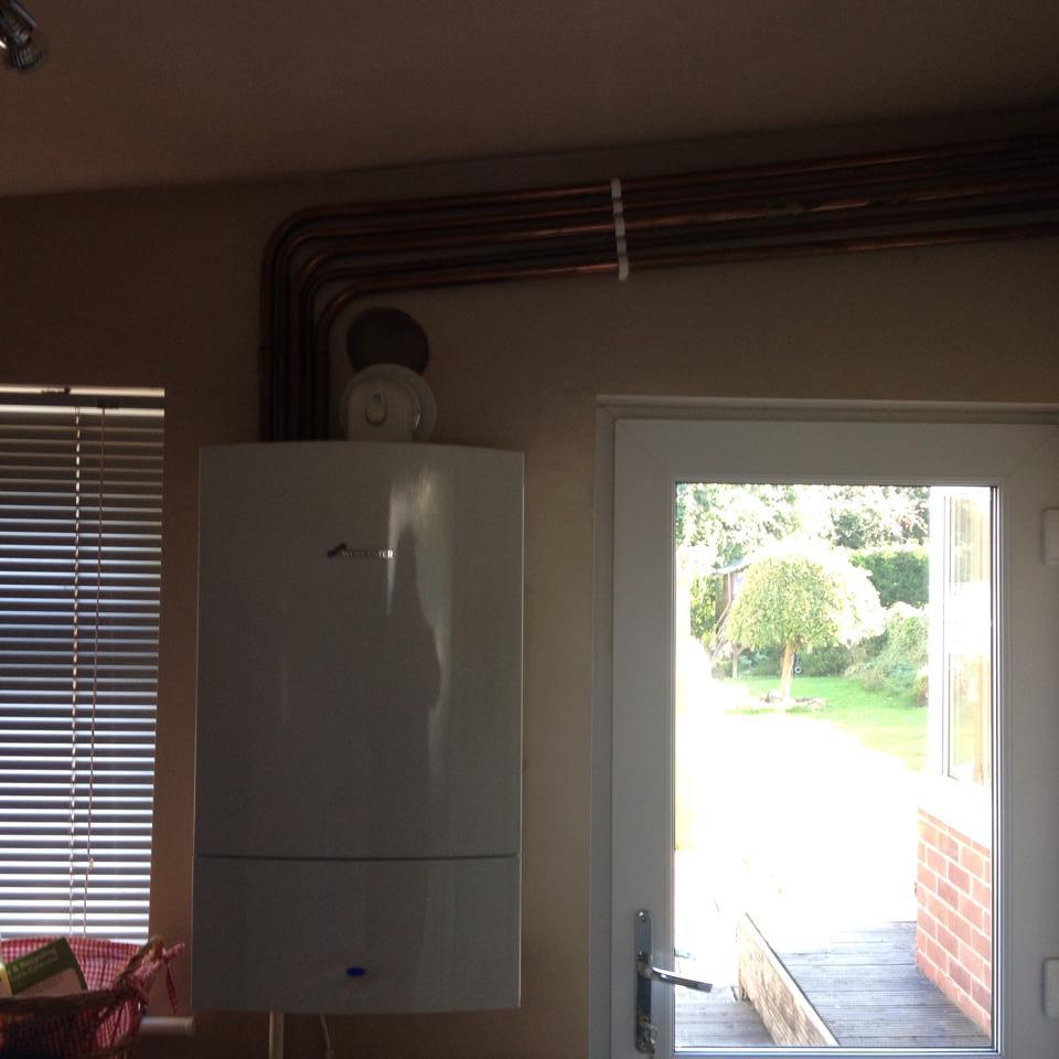 boiler in utility room