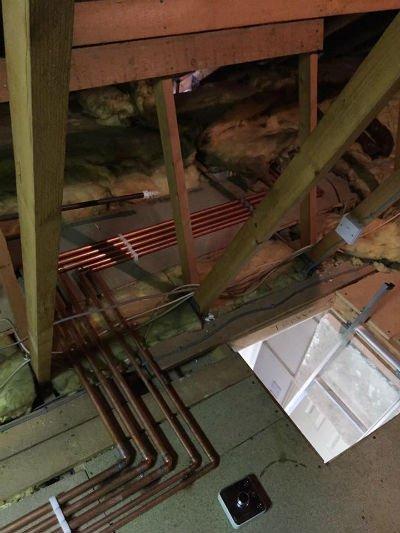 Copper pipe work