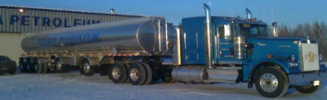 blue 18 wheeler from Alaska Petroleum Distributing Inc
