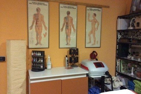 La cabina dedicata ai massaggi.
