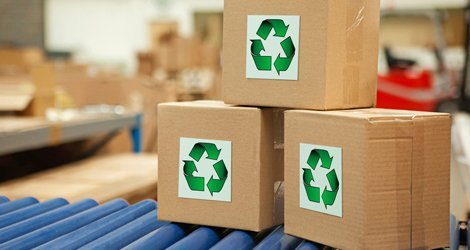cartons with recycling symbol