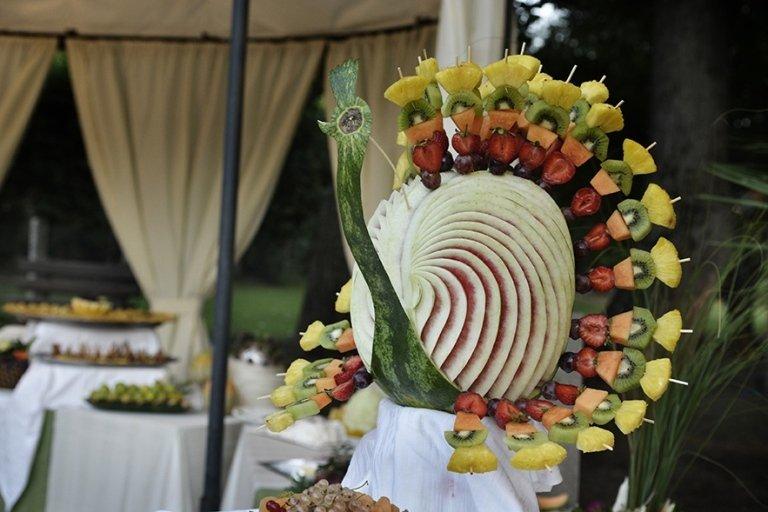 composizione artistica frutta