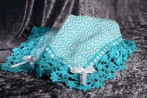 Copertina carrozza in lana  scelta colori e ricamo