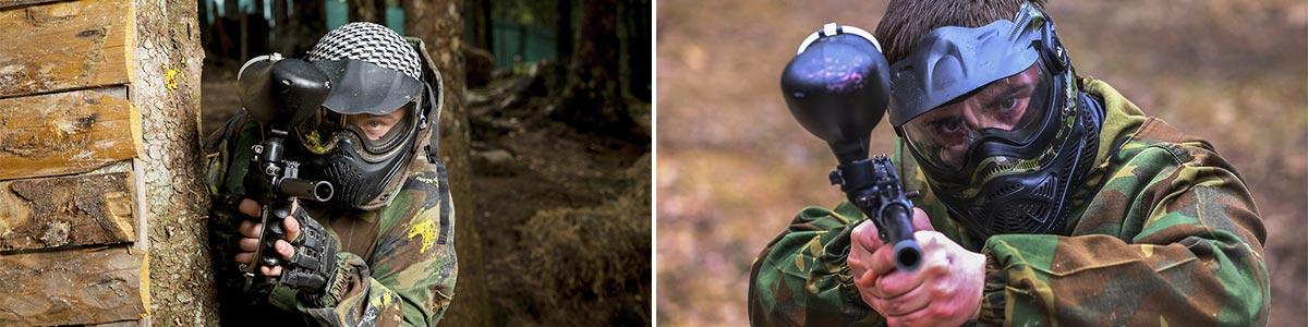 burrungule park paintball player aiming their target