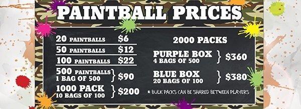 burrungule park paintball paint ball pricing