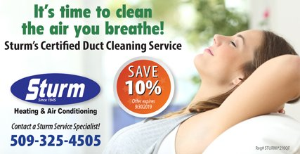 Sturm Duct Cleaning Services in Spokane, WA