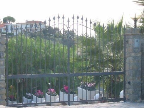 Cancello in metallo per ville