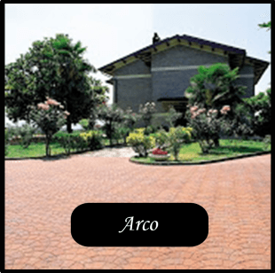 villetta con pavimentazione tipo ARCO