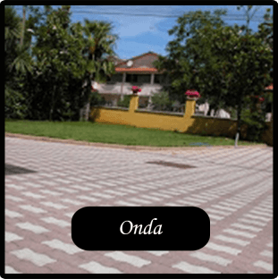 villetta con pavimentazione tipo ONDA