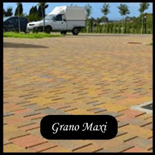 villetta con pavimentazione tipo GRANO MAXI