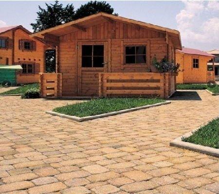 bungalov con pavimentazione grano anticato
