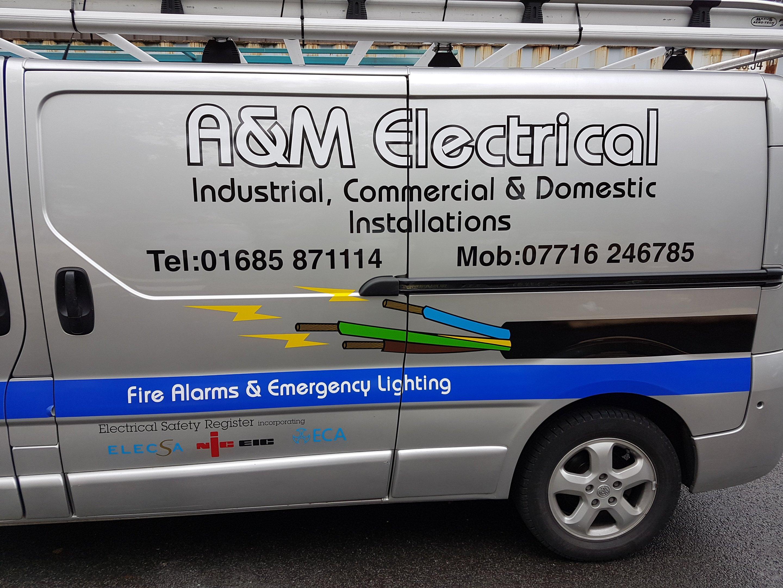 Electrical company van