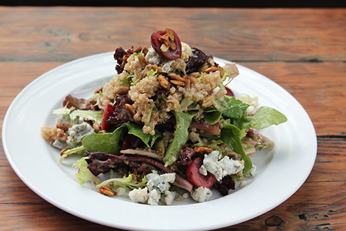 A salad prepared at the the Bitter Tasting Room.
