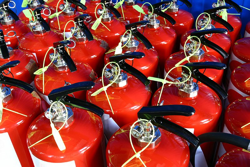 Fire protection from a group of extinguishers in St. Peters