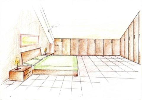 progetto mobili mansarda