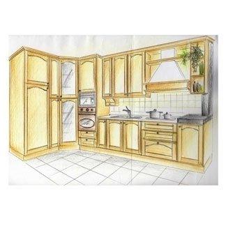 progettazione cucina faggio