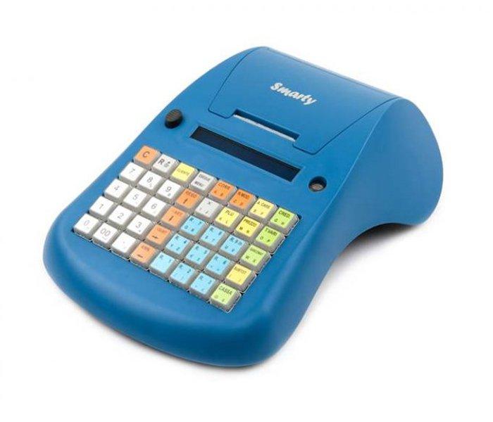 misuratore di cassa azzurro