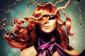 styled orange hair