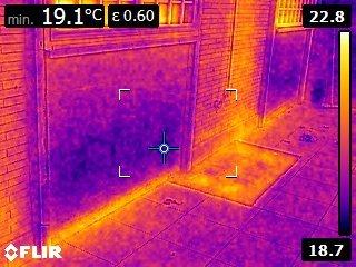 Analisi a infrarossi di un'abitazione