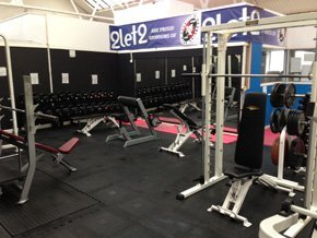 Free weight section of gym
