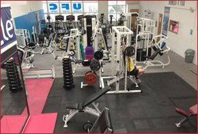 Gym equipment in a gym