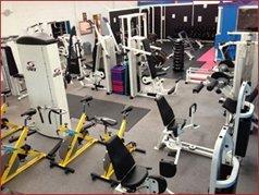 Gym equipment in a gym
