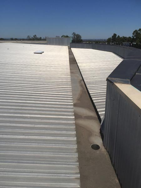 view of repaired gutters