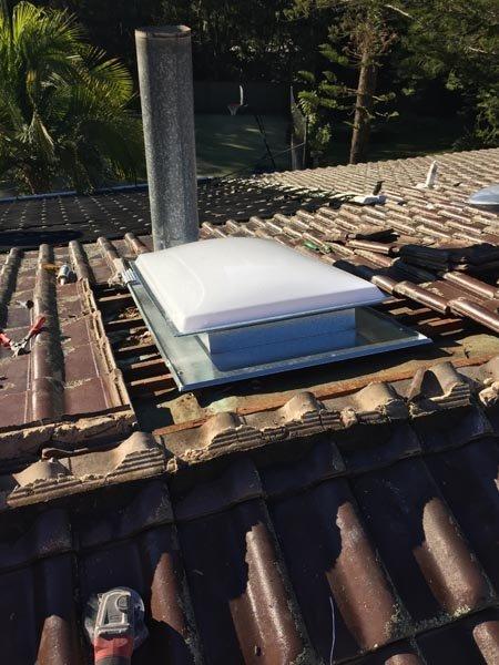 Sky dome  installation in progress